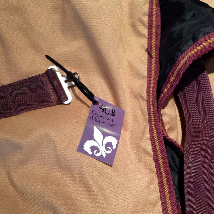 """HW blanket/Couverture HW, 74"""" $40"""