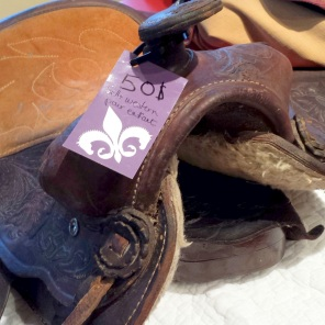 """Kid's western saddle, seat size 12"""", missing cinch attachments $50"""