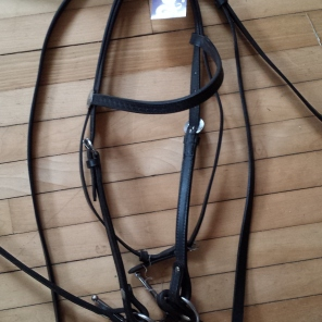 """Western bridle with reins and 5"""" waterford bit $30"""